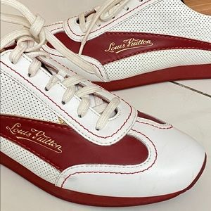 Louis Vuitton sneakers size 6 . Gently used .